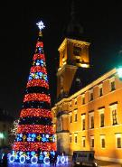 Warsaw, Christmas Tree, Castle Square,