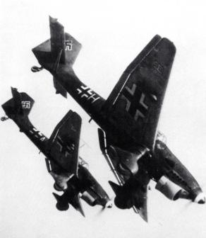 German Stuka Dive Bombers over Poland 1939