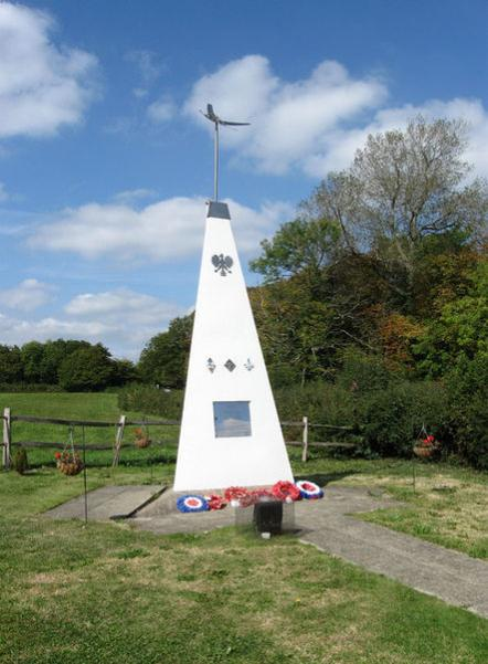 RAF Chailey memorial at the Plough public house, Plumpton