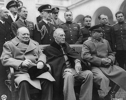 Yalta Conference, Churchill, Roosevelt, Stalin,